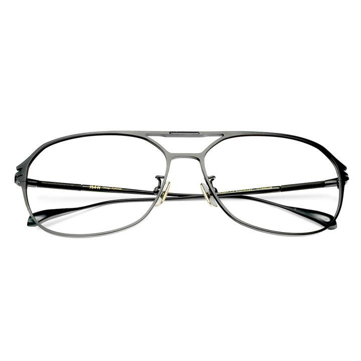 HAN纯钛光学眼镜架-黑色近视框(JK5851-C2)