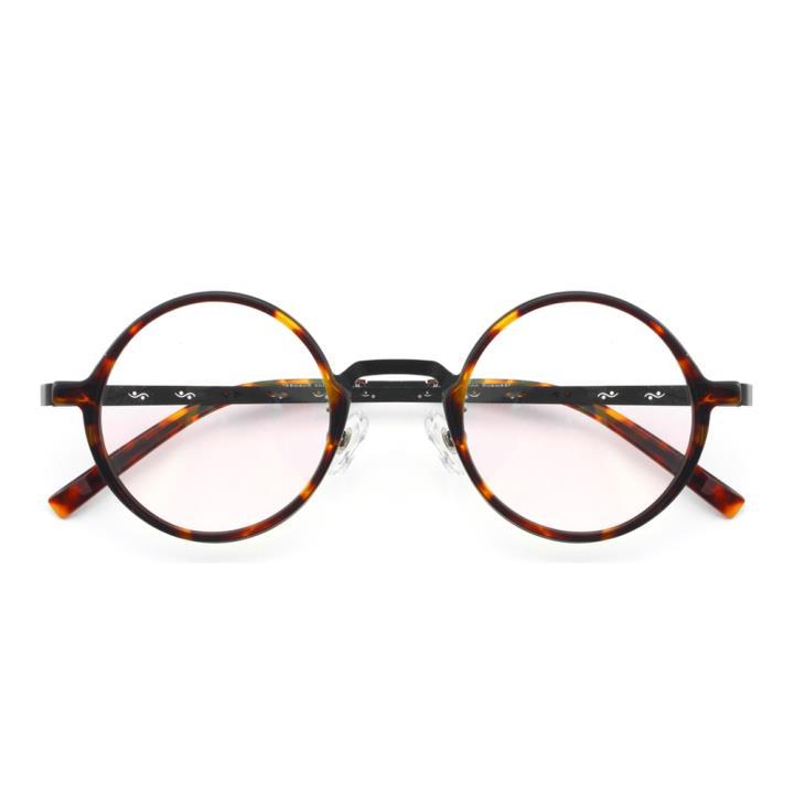 HAN纯钛板材光学眼镜架-玳瑁黑(5409-C1)