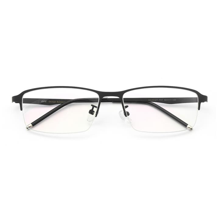 HAN不锈钢近视眼镜架-经典哑黑(HD49321-F01)