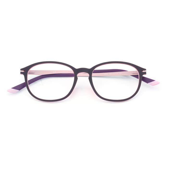 HAN橡胶钛时尚光学眼镜架-紫粉(6012-C5)