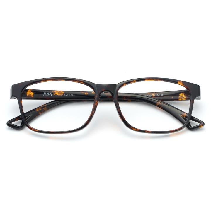 HAN MEGA-TR钛塑光学眼镜架-玳瑁色(HD49325-F03)
