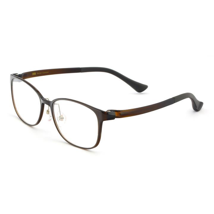 HAN TR光学眼镜架-暗棕色(HN49409-C1)