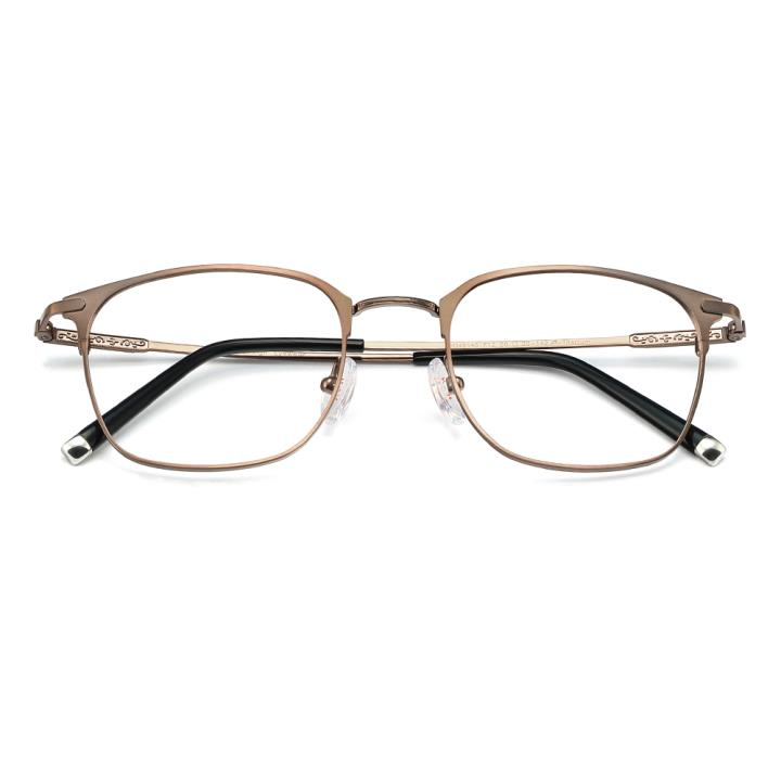 HAN纯钛时尚光学眼镜架-时尚深咖(HD49145-F12)