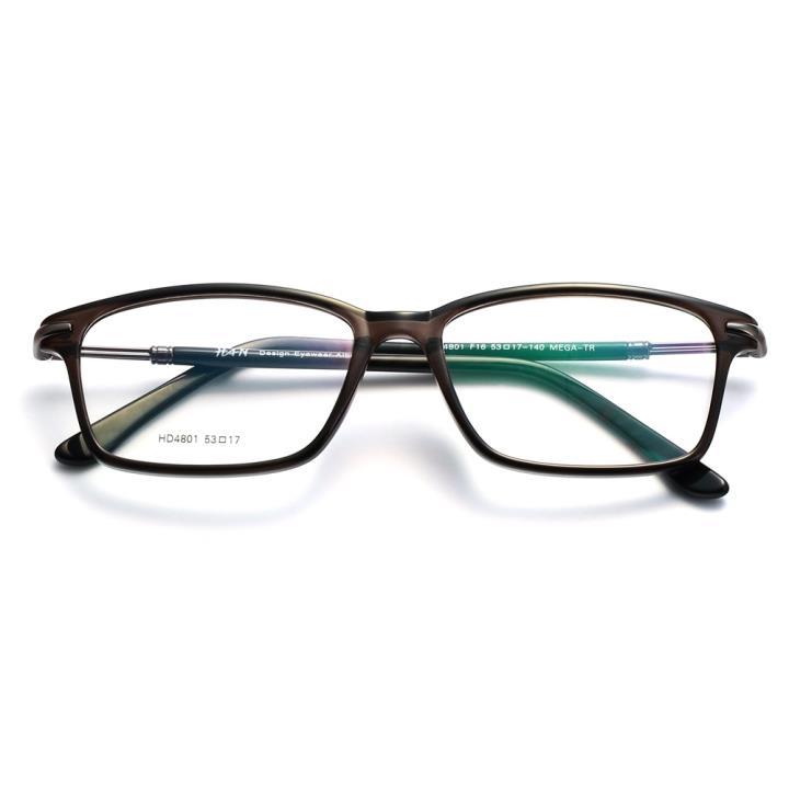 HAN时尚光学眼镜架-典雅棕黑(HD4801-F16)