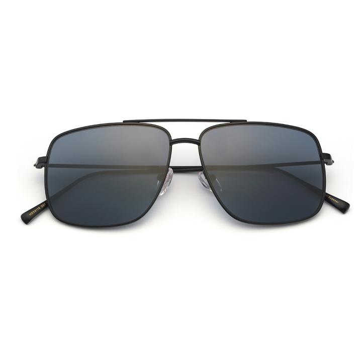 HAN白铜不锈钢防紫外线太阳镜-黑框灰色片(HD59116-S01)