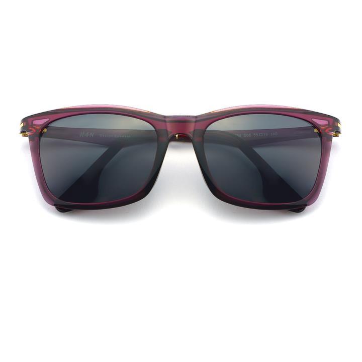 HAN时尚偏光太阳镜-紫框黑灰片(HD5834-S08)