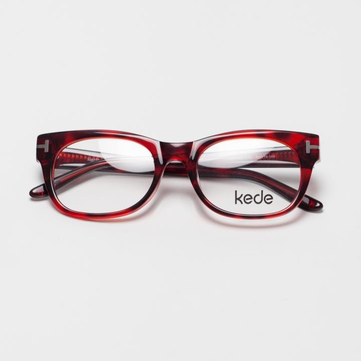 Kede时尚光学眼镜架Ke1440-F06  酒红色