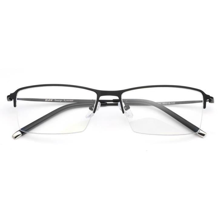 HAN BLUELESS全天候防蓝光护目眼镜-亮黑色(HN4933-C01)平光