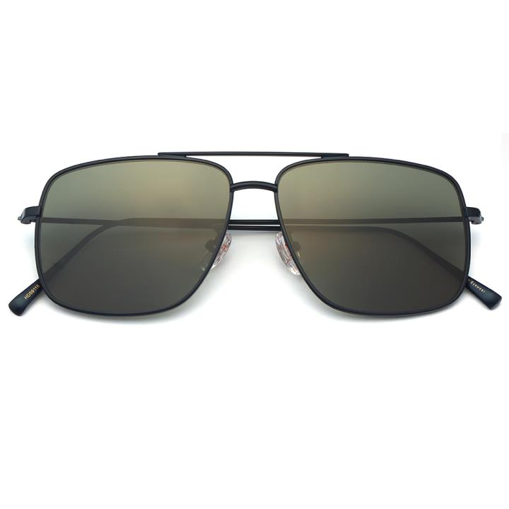 HAN白铜不锈钢防紫外线太阳镜-蓝框墨绿片(HD59116-S07)
