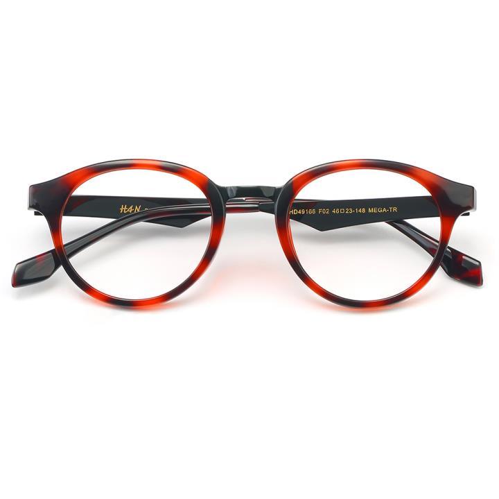 HAN MEGA-TR钛塑光学眼镜架-玳瑁红(HD49166-C2)