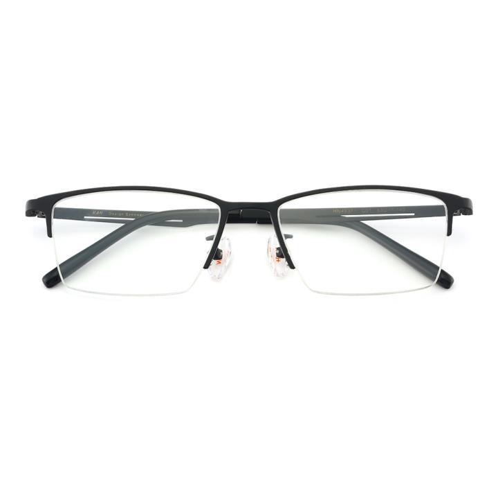 HAN纯钛光学眼镜架-经典纯黑(HN49371-C01)