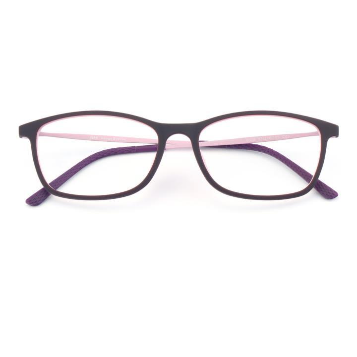 HAN 橡胶钛时尚光学眼镜架-紫粉(6006-C3)