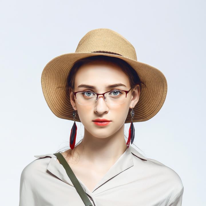 HAN MEGA-TR钛塑不锈钢光学眼镜架-优雅红色(HD49203-F06)