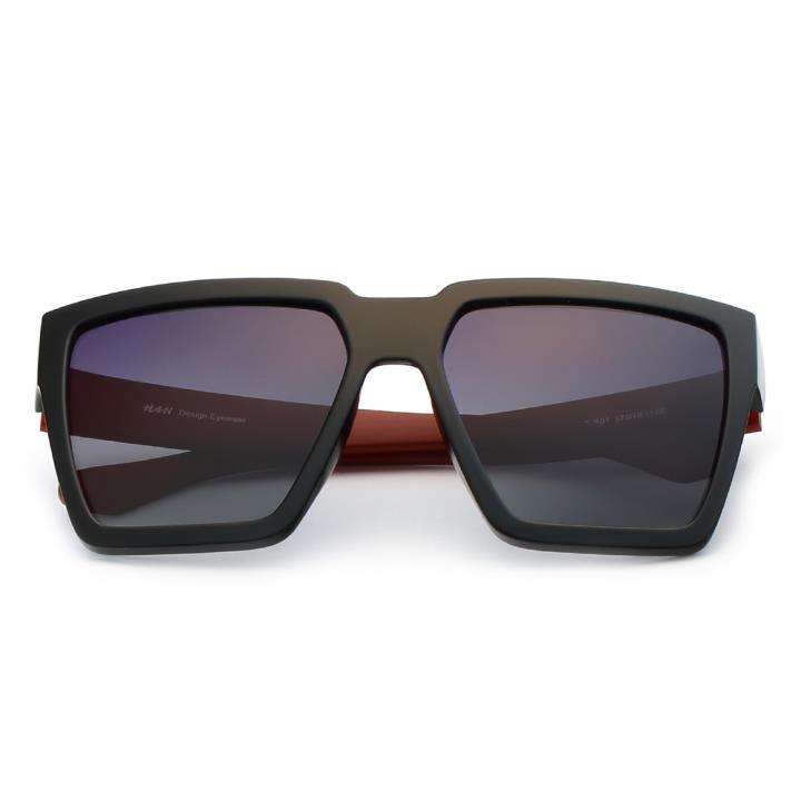 HAN时尚偏光太阳镜HD59307-S01 黑框黑灰片