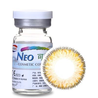 NEO可视眸巨目彩色隐形眼镜年抛一片装N414女皇四色棕