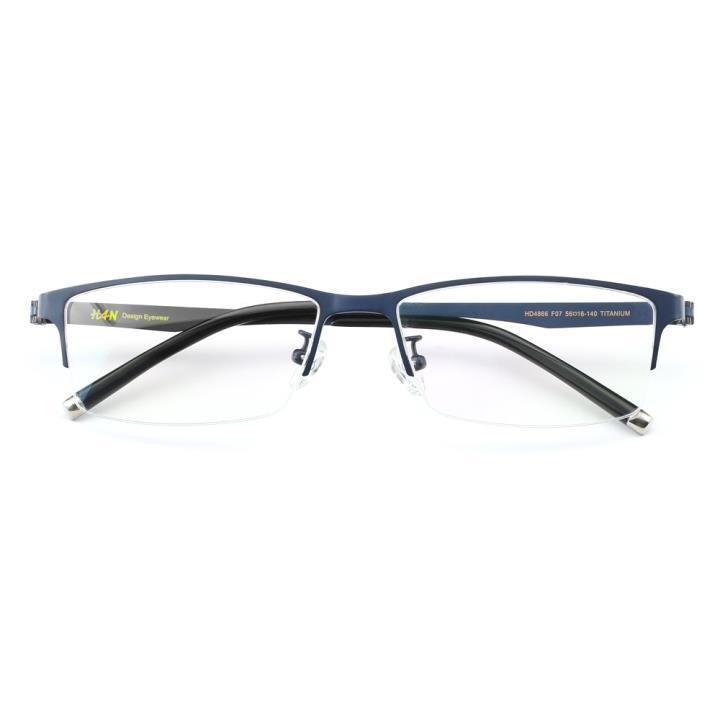 HAN纯钛时尚光学眼镜架HD4866-F07 哑蓝
