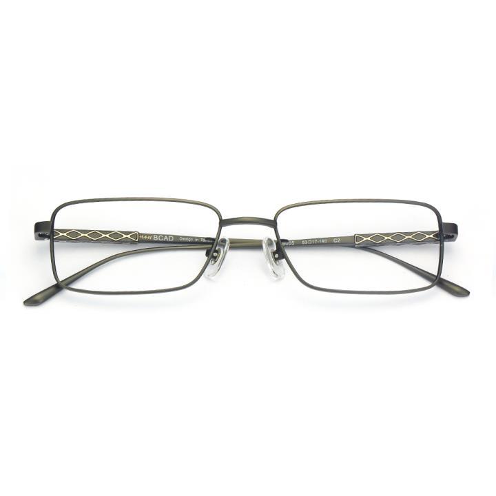 HAN纯钛光学眼镜架-哑黑色(B8005-C2)