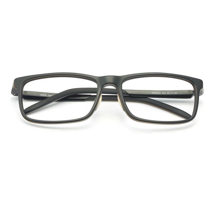 HAN醋酸纤维白铜光学眼镜架-质感哑黑(HD49310-F02)