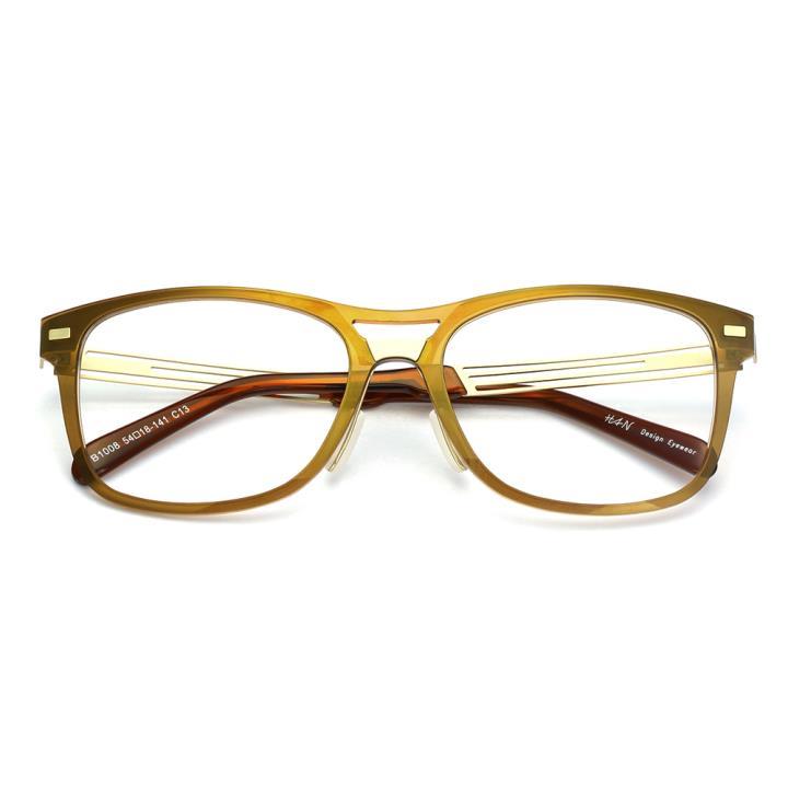 HAN尼龙时尚光学眼镜架-茶色(B1008-C13)