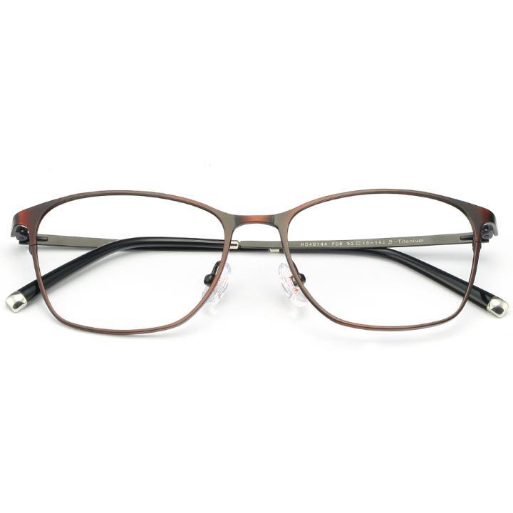 HAN时尚纯钛光学眼镜架-秀雅深红(HD49144-F06)