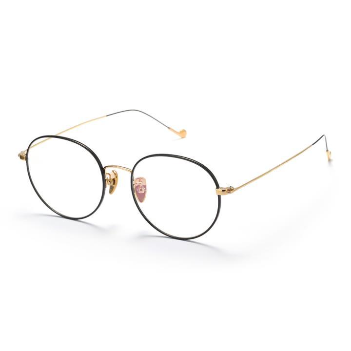 HAN TITANIUM纯钛光学眼镜架HN4850M C2黑金
