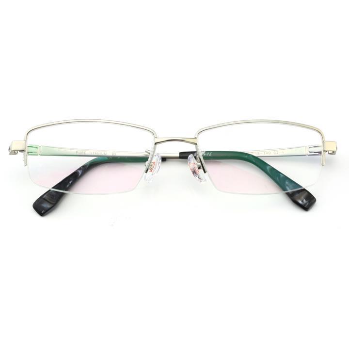HAN纯钛光学眼镜架J81368-C2-4银灰色