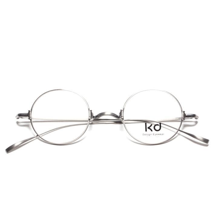 KD复古光学眼镜KD1433-F09  银色