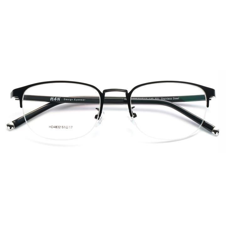 HAN COLLECTION光学眼镜架HD4832-F01 经典亮黑