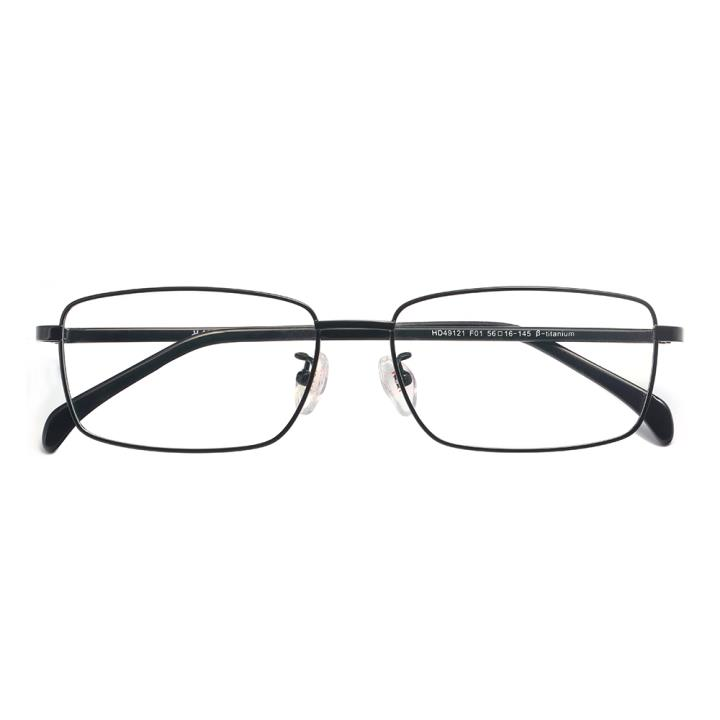 HAN纯钛板材光学镜架-哑黑色(HD49121-F01)