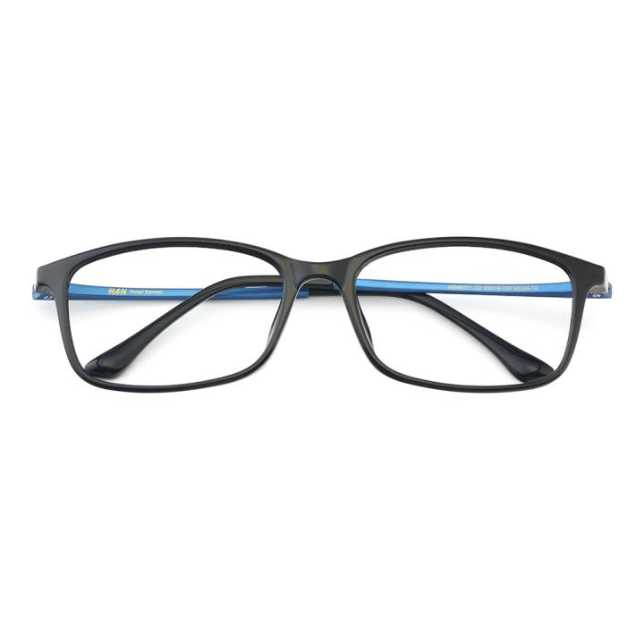 HAN MEGA-TR钛塑光学镜架-黑蓝色(HD49171-C2)