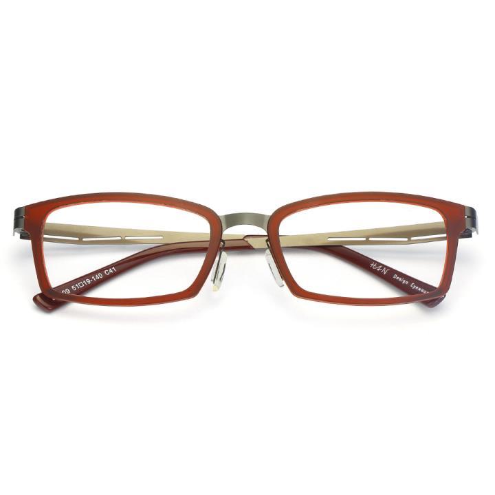 HAN尼龙不锈钢光学眼镜架-时尚酒红(B1009-C41)