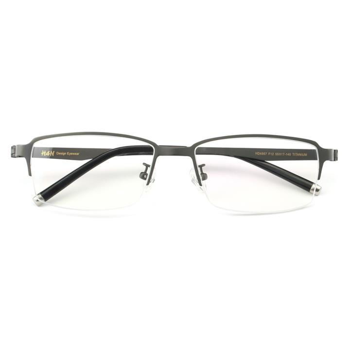 HAN纯钛光学眼镜架HD4867-F12 哑枪