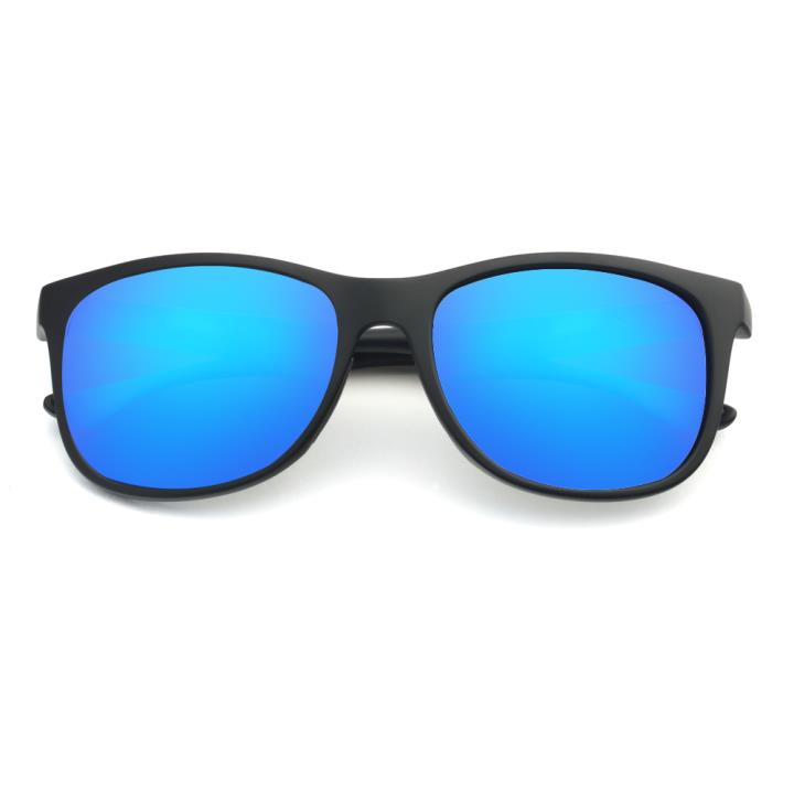 HAN TR偏光太阳镜-黑框镀膜蓝(HN59411-C2)