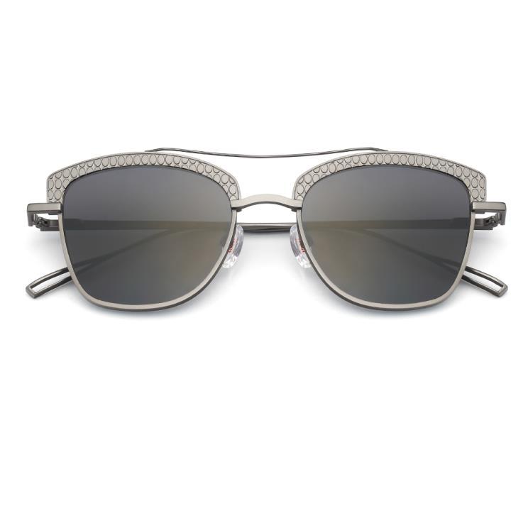 HAN RAZR-X9白铜不锈钢太阳眼镜-枪框黑片(HD59124 S12)
