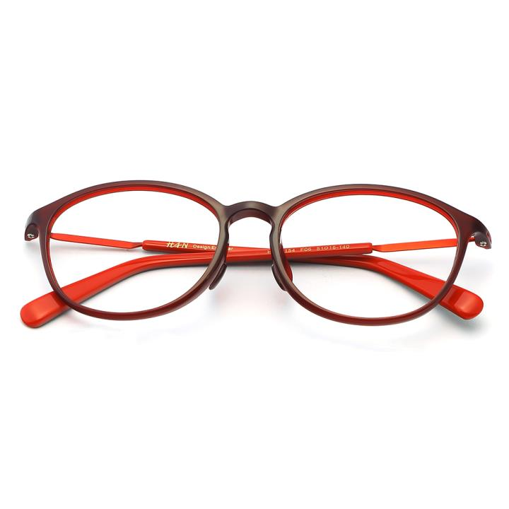 HAN  TR板材光学眼镜架-浪漫深红(HD49154-F06 )