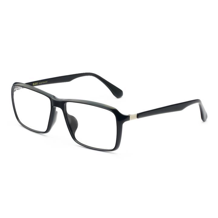 HAN MEGA-TR钛塑板材光学眼镜架-经典亮黑(HD49151-F01)