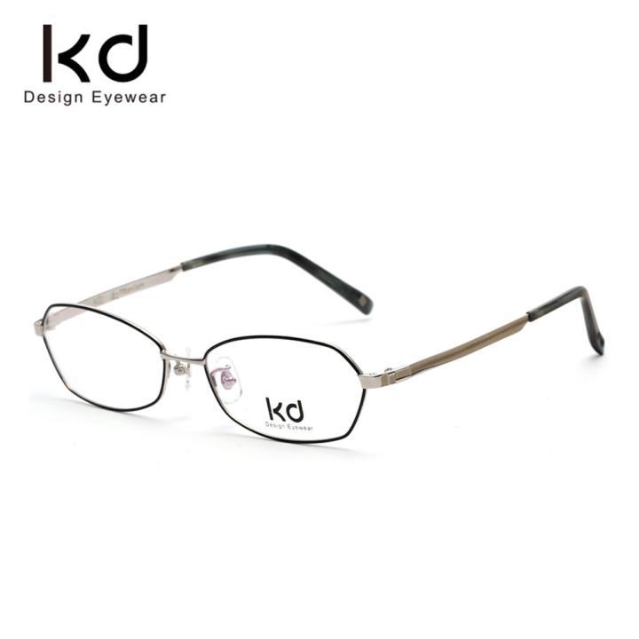 KD时尚光学镜架KD1927-F09 黑银