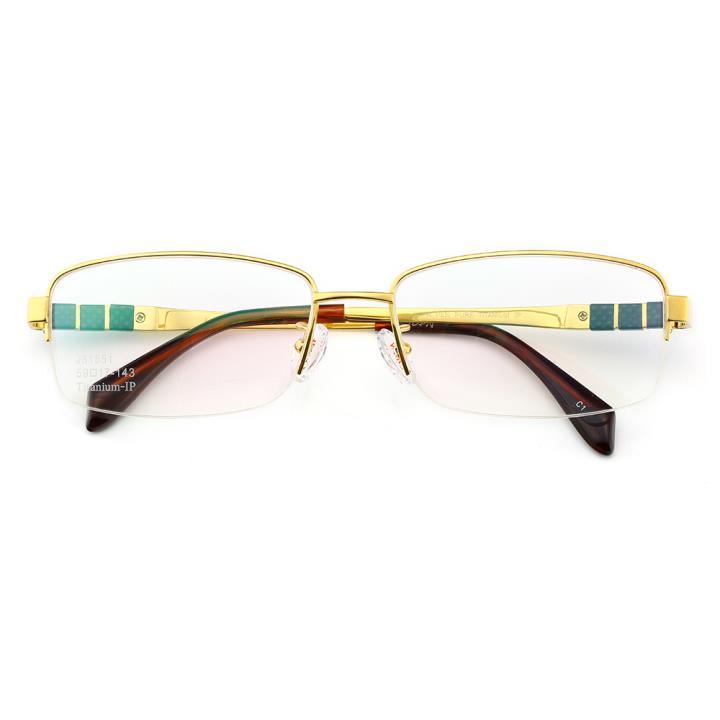 HAN时尚光学眼镜架J81551-C1时尚金色