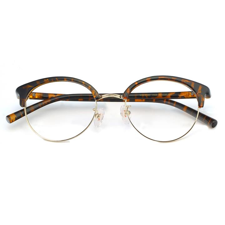 HAN合金PC光学眼镜架-复古玳瑁(HN49380-C02)