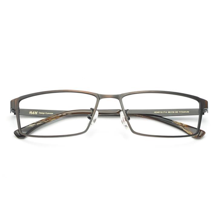 HAN纯钛光学眼镜架-复古铜(HD49118-F14)