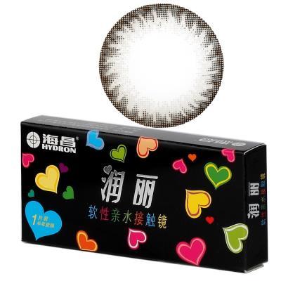 海昌润丽半年抛彩色隐形眼镜1片装-灰色(新老包装随机发货)