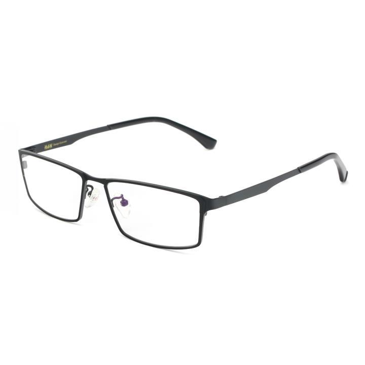 HAN纯钛光学眼镜架-经典黑(HD49118-F01)