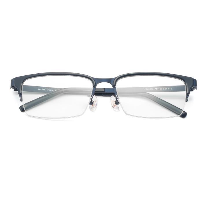 HAN 不锈钢板材光学眼镜架-深蓝色(HD49210-F07)