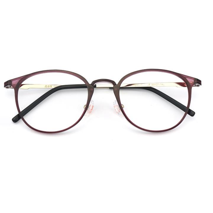 HAN MEGA-TR钛塑不锈钢光学眼镜架-浪漫紫色(HD49207-F08)