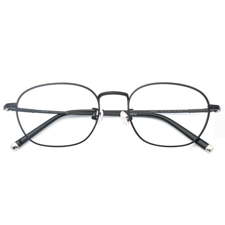 HAN纯钛光学眼镜架-哑黑色(J81871-C2-4)