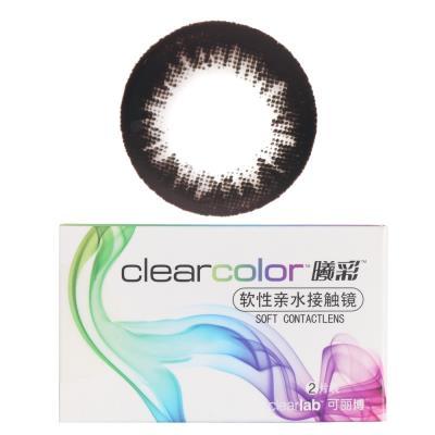 可丽博Clearcolor曦彩隐形眼镜半年抛2片装-深遂黑B11