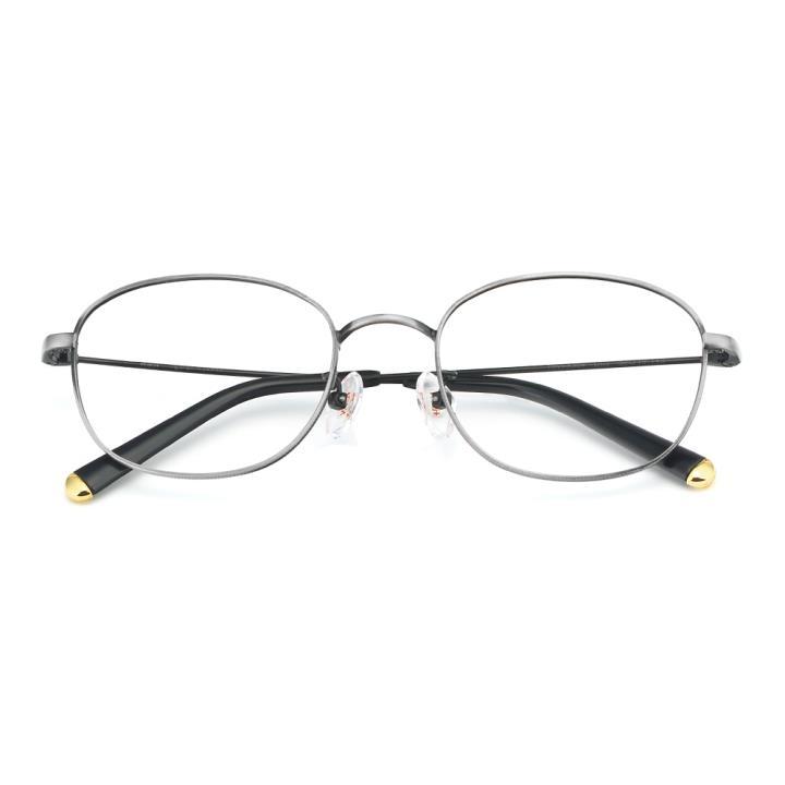 HAN合金光学眼镜架-复古银(HN49384-C02)