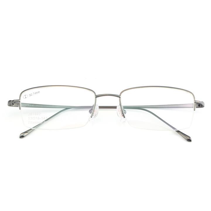 HAN纯钛光学眼镜架-枪灰(J81882-C3)