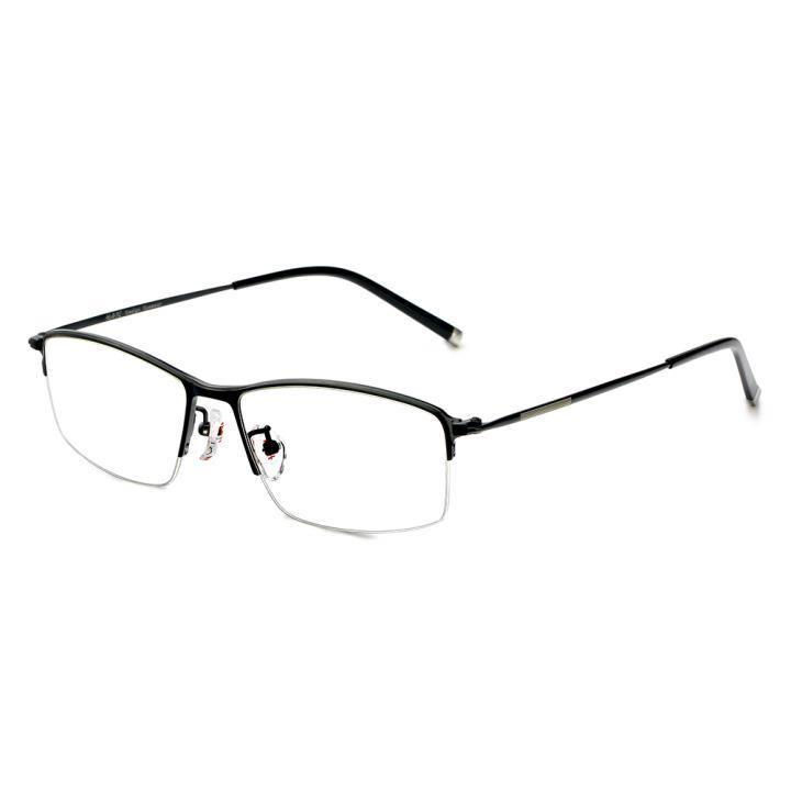 HAN纯钛光学镜架-哑黑色(HD49123-F01)