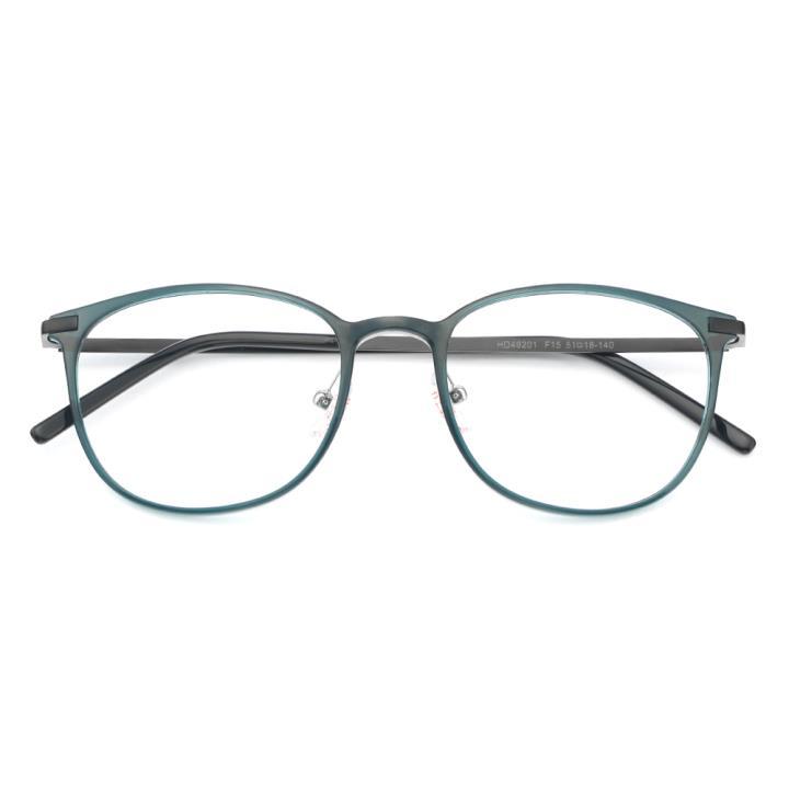 HAN MEGA-TR钛塑不锈钢光学眼镜架-清新蓝绿(HD49201-F15)